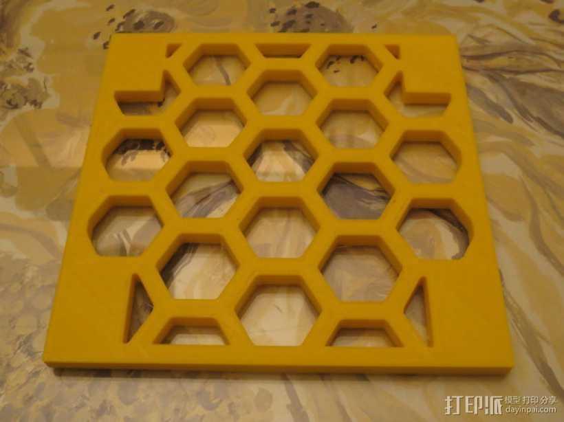 模块化的蜂巢面板 3D打印模型渲染图