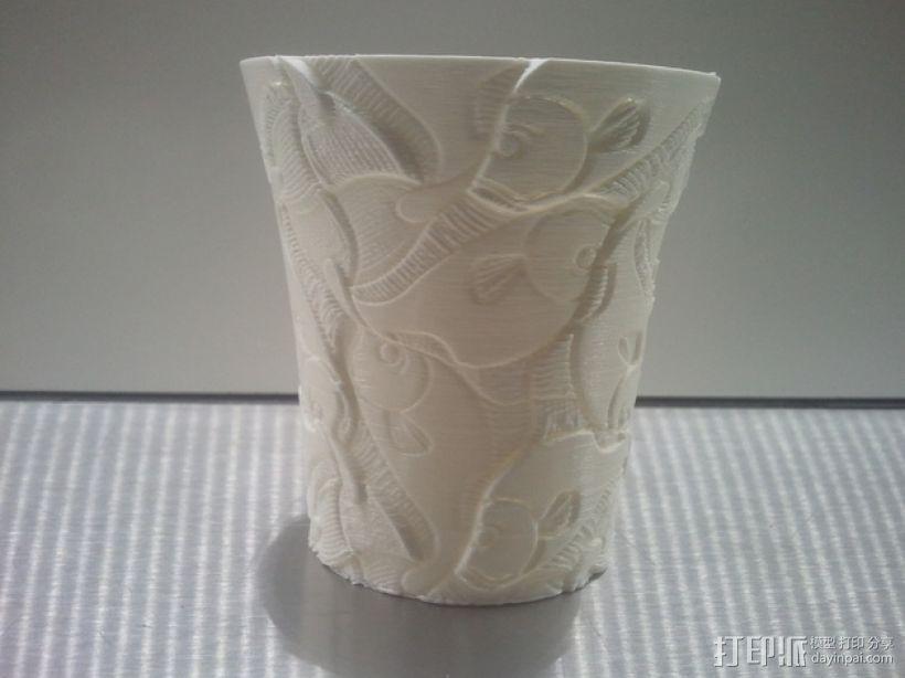Escher花瓶/水杯 3D打印模型渲染图