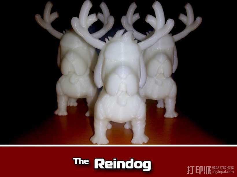 鹿角 狗 装饰品 3D打印模型渲染图