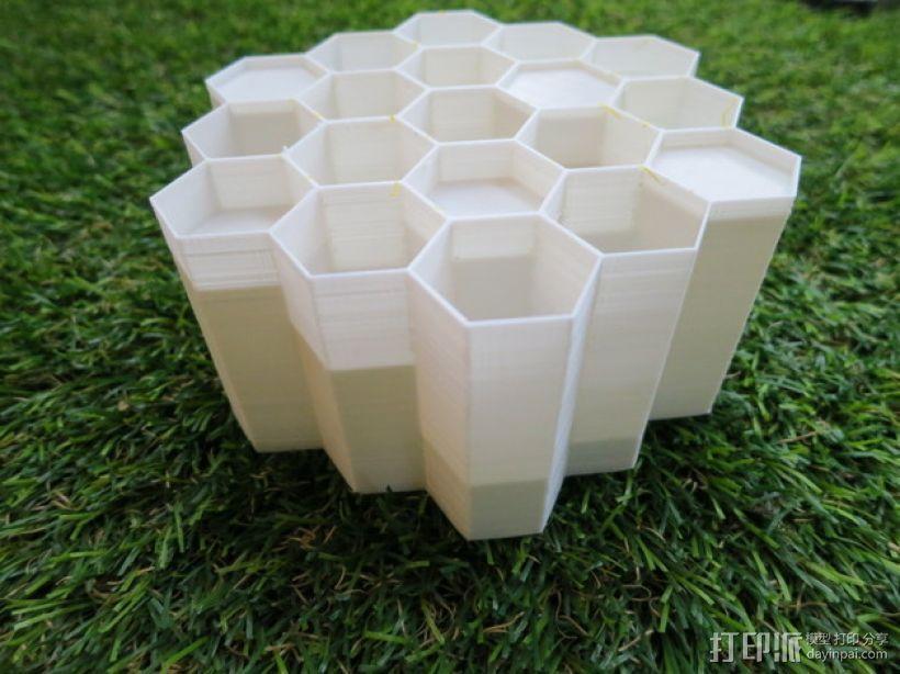 蜂巢形声音扩散器 3D打印模型渲染图