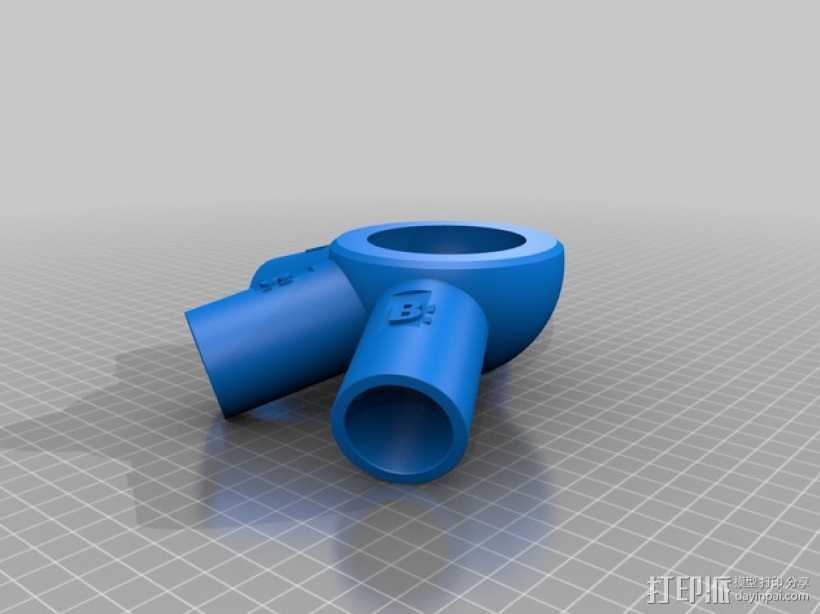 管道连接器 3D打印模型渲染图