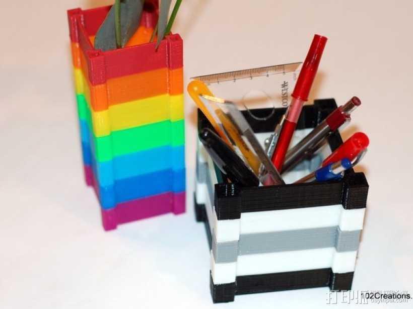 彩色多功能小盒 3D打印模型渲染图