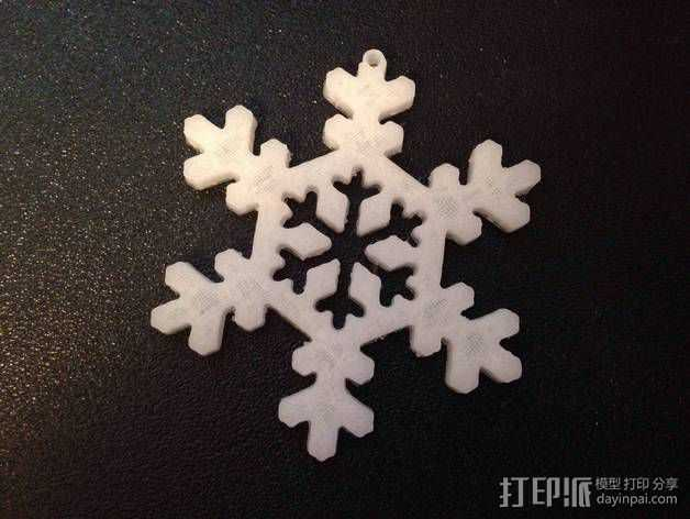 雪花 装饰品 3D打印模型渲染图