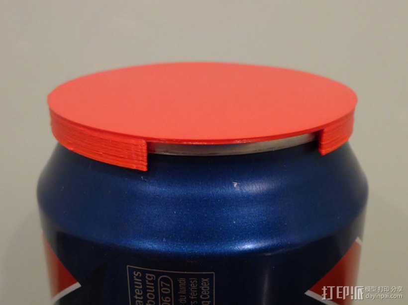 汽水/啤酒易拉罐盖子  3D打印模型渲染图