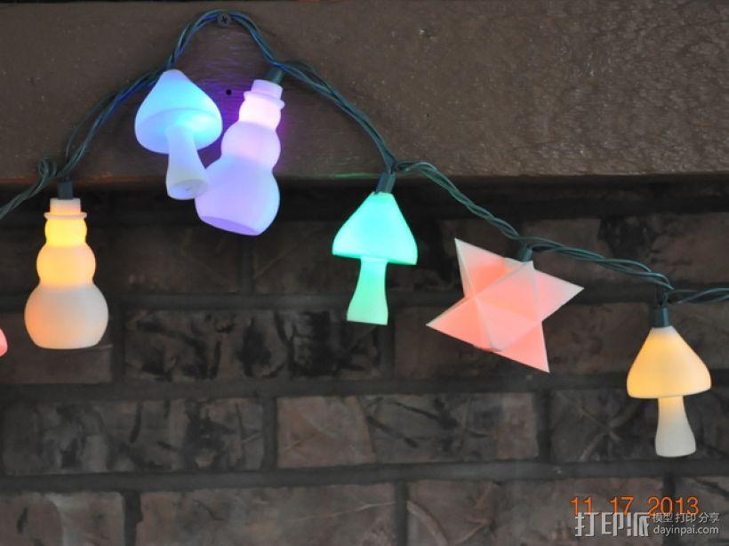 圣诞彩灯 灯罩 3D打印模型渲染图
