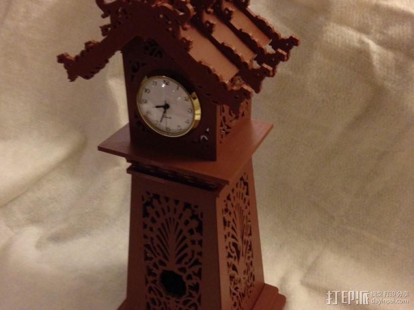 古典精美时钟 3D打印模型渲染图