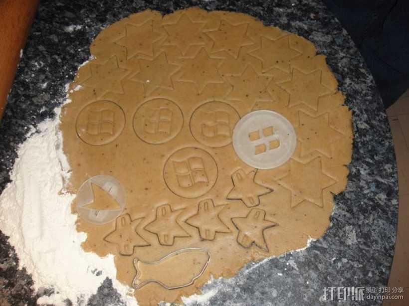 《星际迷航》通讯器 饼干制作模具 3D打印模型渲染图