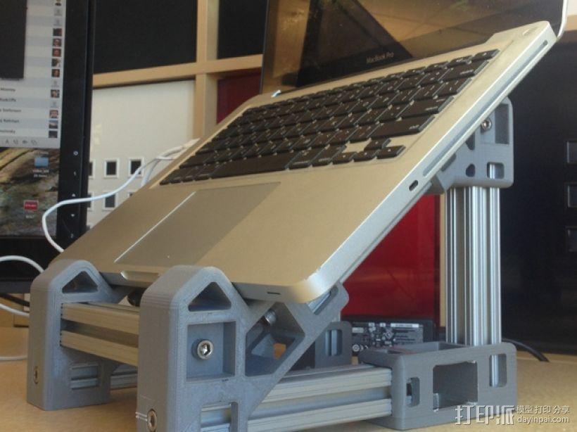 笔记本电脑支架  3D打印模型渲染图