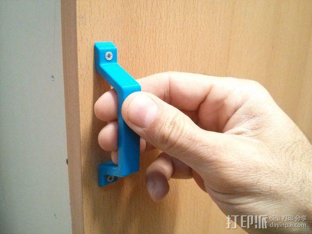 抽屉/橱柜门把手 3D打印模型渲染图