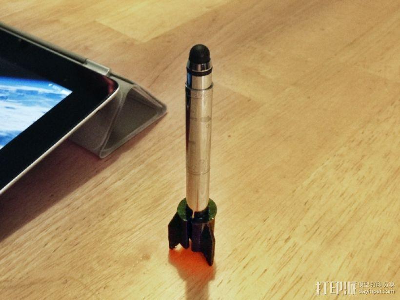 费舍尔太空笔笔筒 3D打印模型渲染图