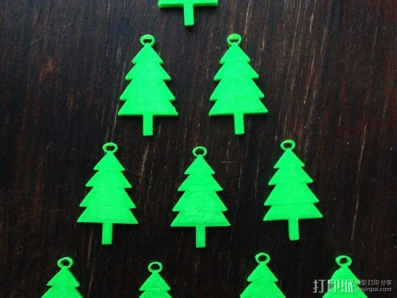 迷你圣诞树 3D打印模型渲染图