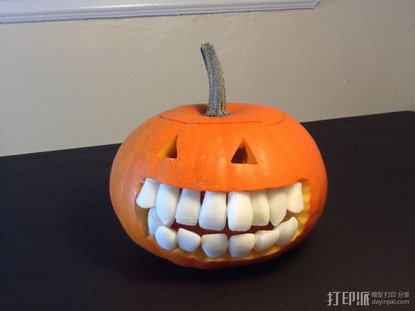 南瓜 牙齿 3D打印模型渲染图