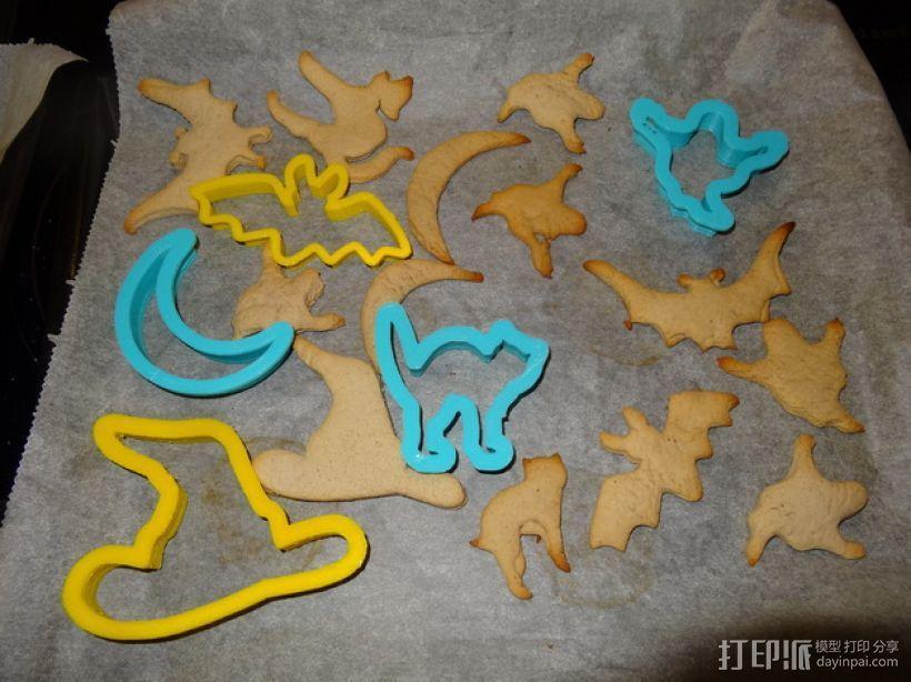 万圣节饼干制作模具 3D打印模型渲染图