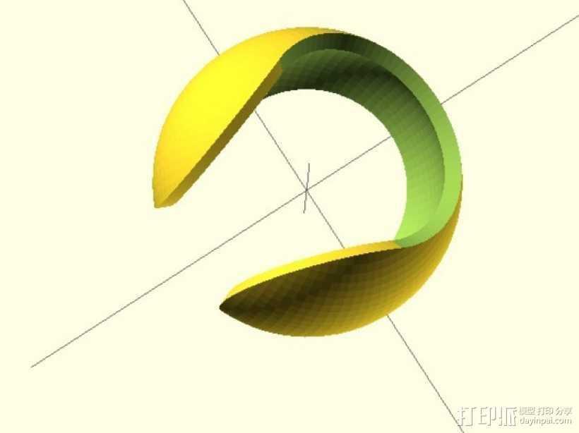 中空球 3D打印模型渲染图