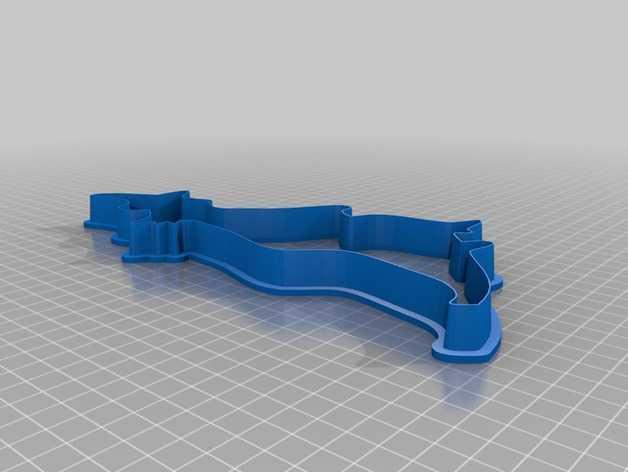巫师-万圣节饼干模具 3D打印模型渲染图
