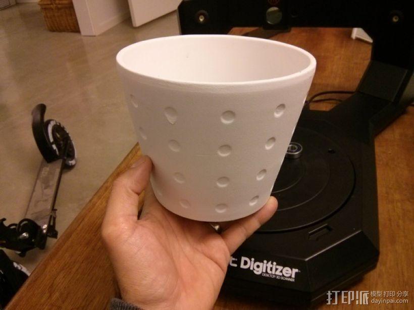数字化花盆 3D打印模型渲染图