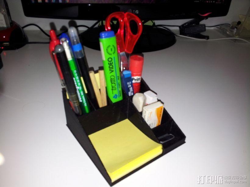 多功能笔筒 3D打印模型渲染图