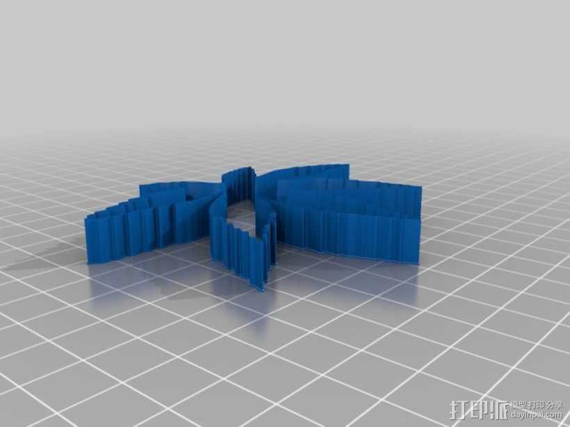 树叶 饼干制作模具 3D打印模型渲染图