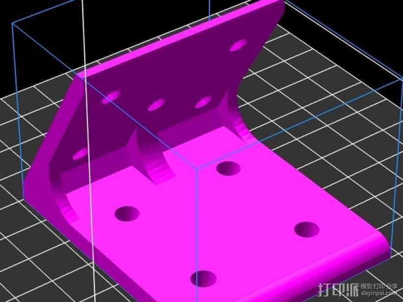 60度角的支架 3D打印模型渲染图