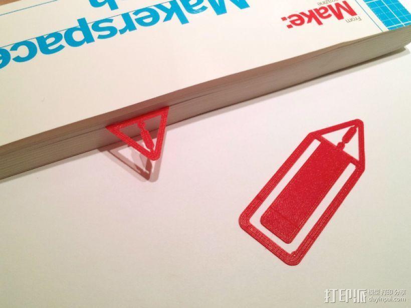 警告标志 书签 3D打印模型渲染图