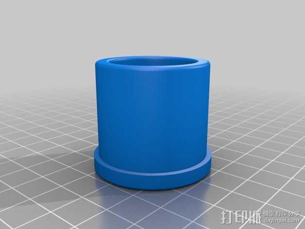 宜家Vika Kaj 桌的滑轮腿 3D打印模型渲染图