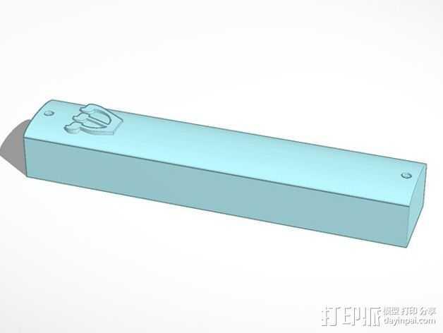 简易门柱圣卷盒 3D打印模型渲染图