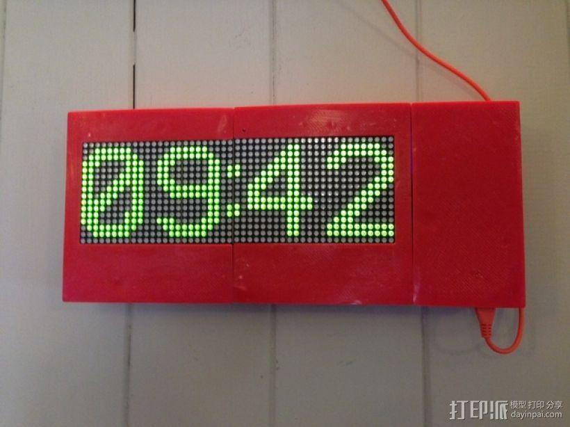 乒乓电子钟盒 3D打印模型渲染图