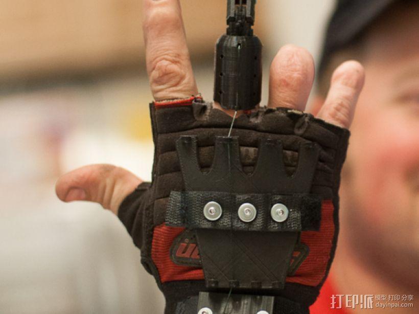假肢手指 3D打印模型渲染图
