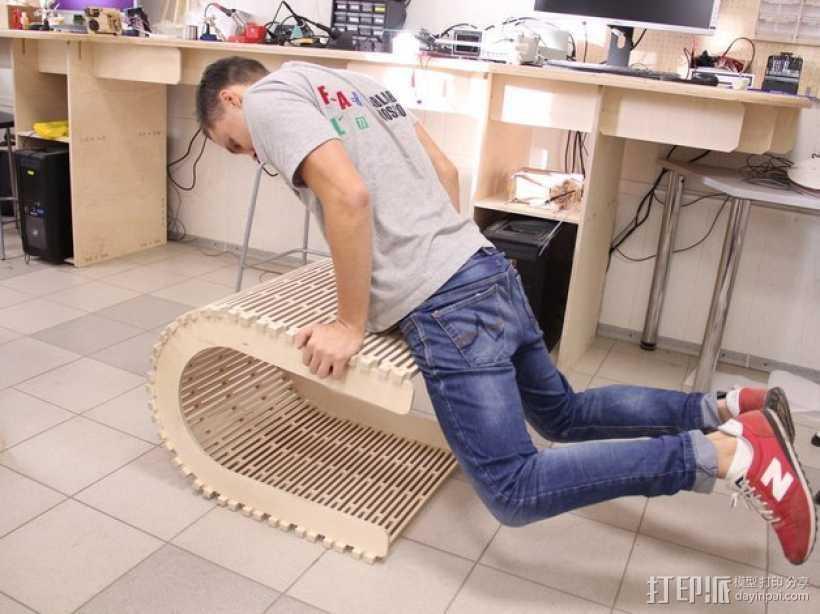 阴阳座椅 3D打印模型渲染图