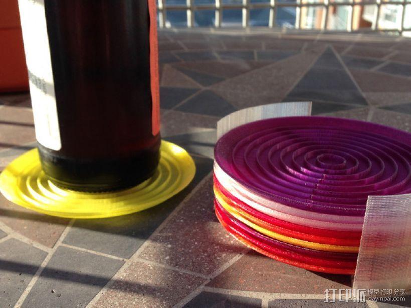 饮料杯垫底座 3D打印模型渲染图