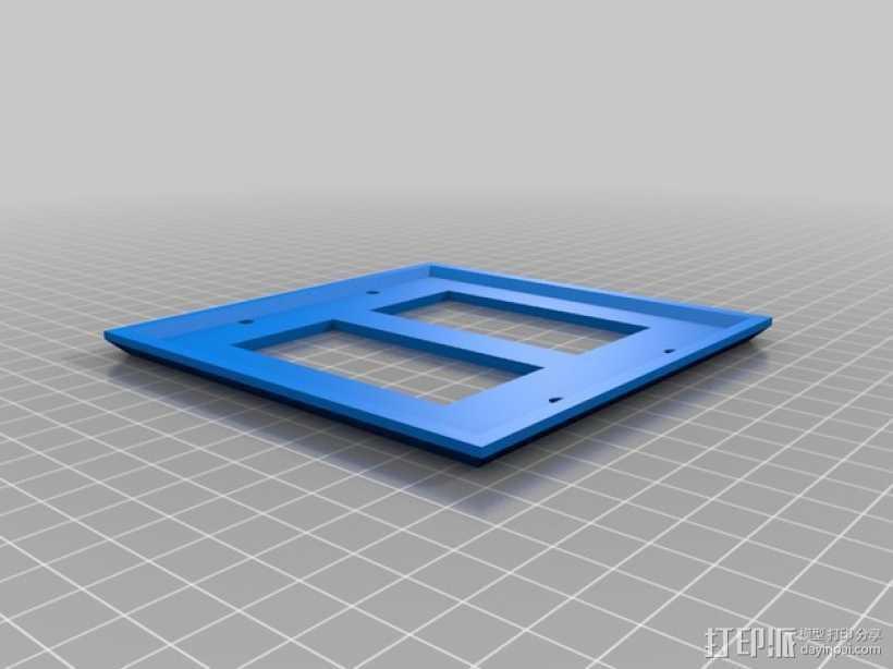 双头灯开关壳 3D打印模型渲染图
