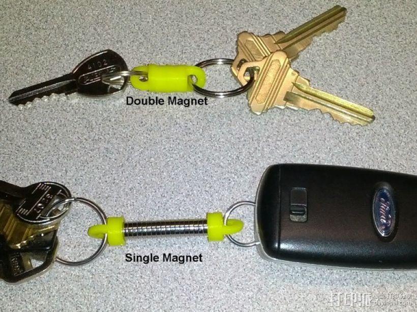 磁力钥匙扣连接装置 3D打印模型渲染图