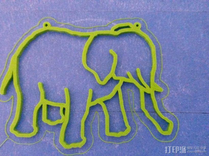 大象 窗贴 3D打印模型渲染图