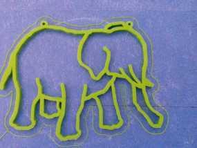 大象 窗贴
