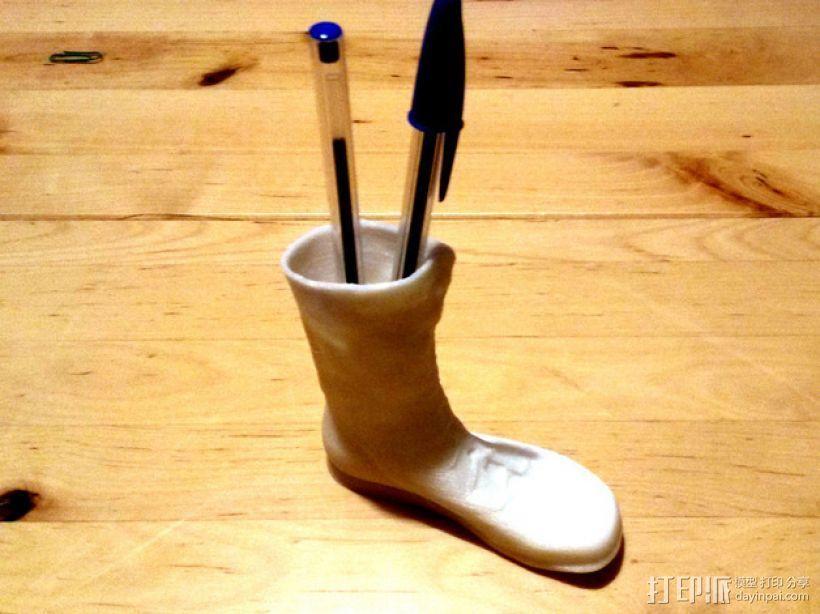 左靴 笔筒/花瓶 3D打印模型渲染图