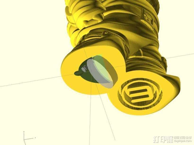 侏儒启瓶器 3D打印模型渲染图