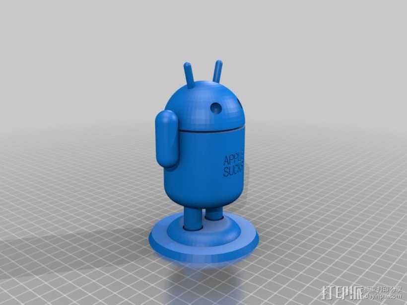 安卓机器人 3D打印模型渲染图