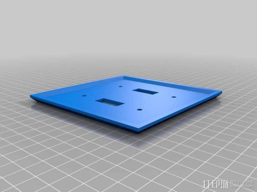双头灯开关面板 3D打印模型渲染图