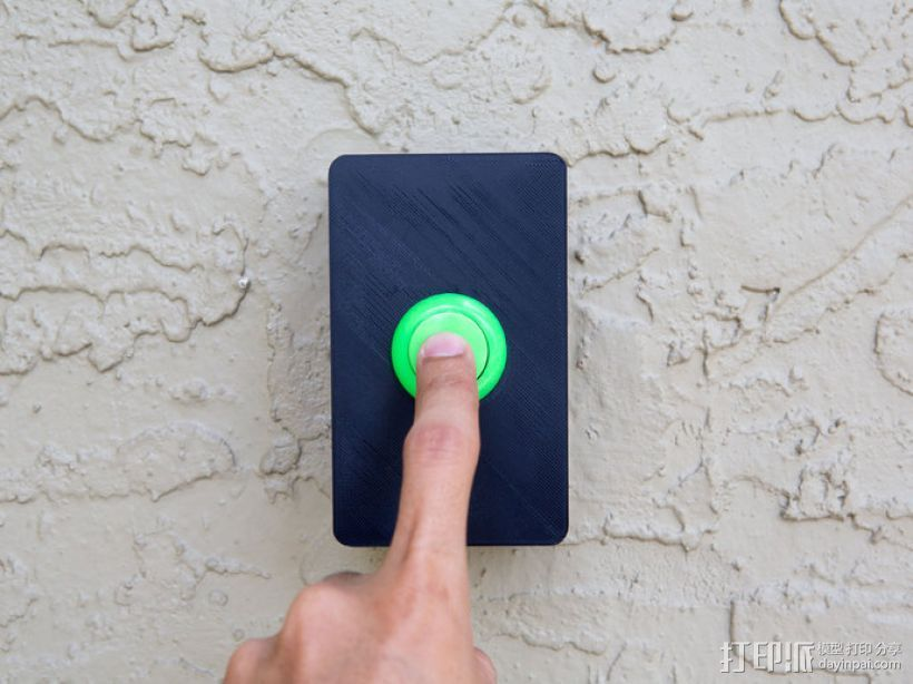 门铃按钮盒 3D打印模型渲染图