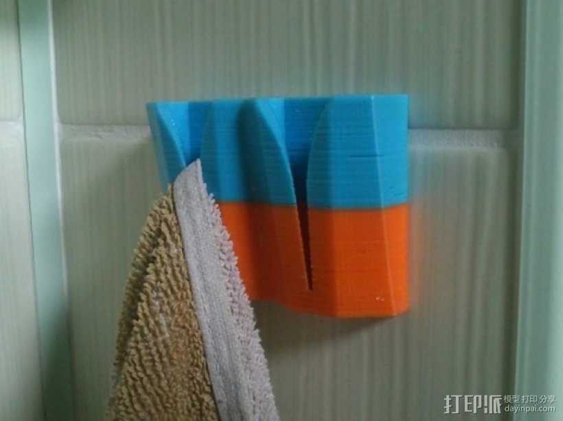 通用型毛巾架 3D打印模型渲染图