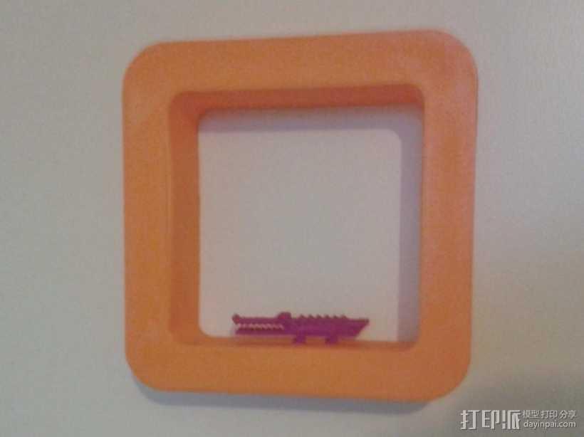 立方体浮架 3D打印模型渲染图