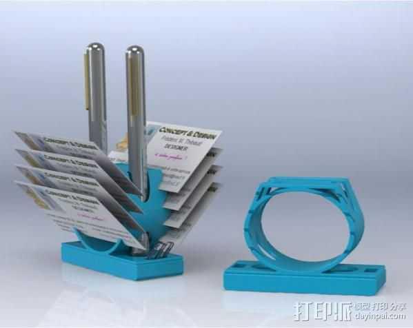 多功能笔架 3D打印模型渲染图