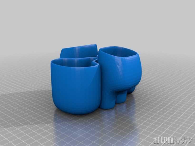 花盆#4 3D打印模型渲染图
