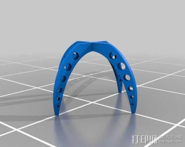 快速支架  02 3D打印模型渲染图