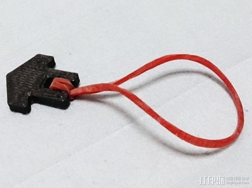 橡皮筋绑带 3D打印模型渲染图
