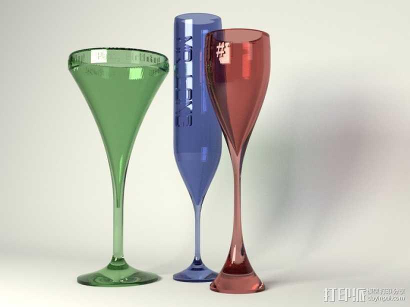 鸡尾酒杯 3D打印模型渲染图