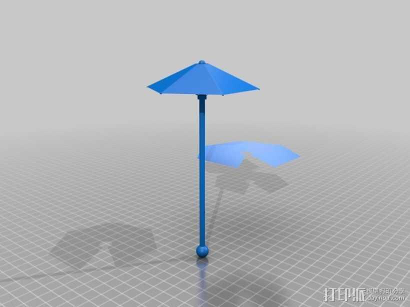 鸡尾酒小伞 3D打印模型渲染图