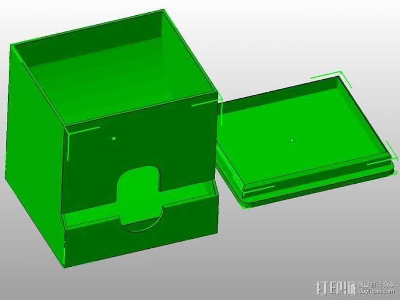 棉签盒 3D打印模型渲染图