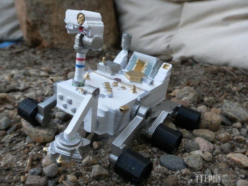 火星好奇者号 3D打印模型渲染图