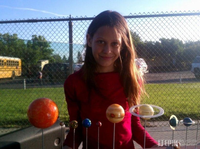 太阳系 模型 3D打印模型渲染图